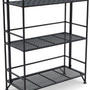 Convenience Concepts Designs2Go X-Tra Storage 3-Tier Wide Folding Metal Shelf