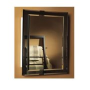 Jensen Mirror on Mirror Frameless Single-Door Recessed Medicine Cabinet