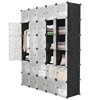 LANGRIA 30-Cube DIY Modular Shelving Storage Organizer Extra Large