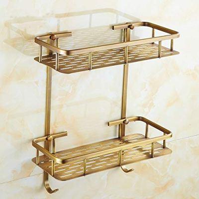 LifxX Vintage Bronze Rectangle Solid Brass Bathroom Shelf Wall Mounted