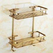 LifxX Vintage Bronze Rectangle Solid Brass Bathroom Shelf Wall Mounted