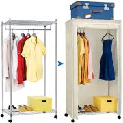 Artmoon Buffalo Heavy Duty Steel Clothes Rail Closet on Wheels