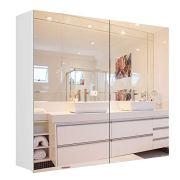 Homfa Bathroom Wall Mirror Cabinet, 27.6 X 23.6 Inch Multipurpose Storage