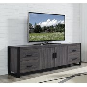 """WE Furniture 70"""" Industrial Wood TV Stand Console,"""