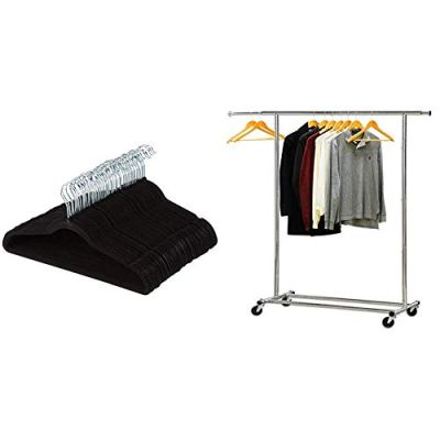 AmazonBasics Velvet Suit Clothes Hangers, 100-Pack