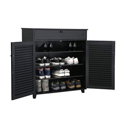 Yaheetech Shoe Cabinet Office Bathroom Storage Cabinet