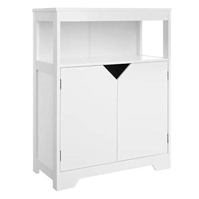 VASAGLE Bathroom Storage Cabinet, Floor Cabinet Cupboard
