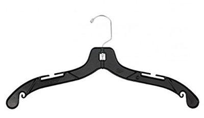 NAHANCO Middle Heavy Weight Plastic Dress Hangers