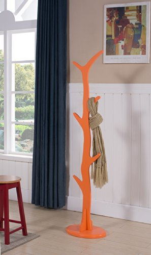 King's Brand Contemporary Tree Style Wood Coat and Hat Rack Stand