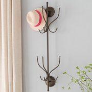 Kings Brand Furniture - Nino Metal 12 Hook Wall Mount Coat & Hat Rack