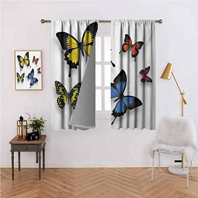 Mannwarehouse Butterfly Bedroom Curtain Various Colorful Butterflies