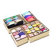 Trenlp 4PCS Underwear Organizer Storage Box Drawer Divider