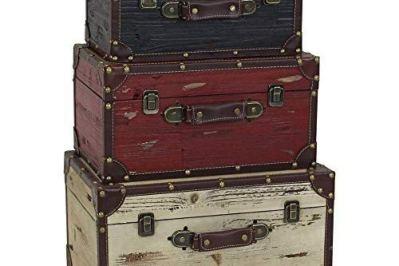 Aspire Torrance Wood Trunks (Set of 3), Black/White/Red