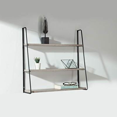 Industrial Floating Shelves Wall Mounted 3 Tiers Hanging Wall Shelf