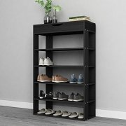 SogesPower 5-Tier Wooden Shoe Rack 29.5 inches Shoe Organizer
