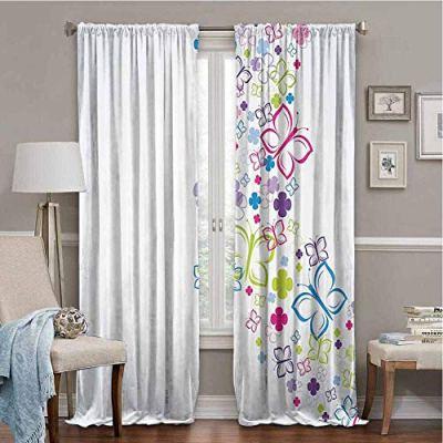 SONGDAYONE All Season Insulation Colorful Home Decor Privacy