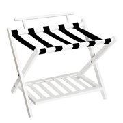WELLAND Wall Saver Wood Folding Luggage Rack