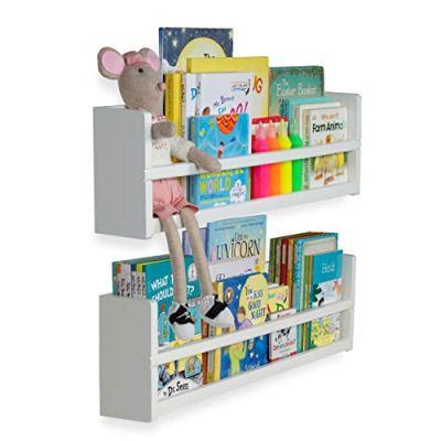 brightmaison Nursery Décor Wall Shelves - 2 Shelf Set