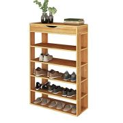 sogesfurniture Shoe Rack 29.5 Inches 5 Tier Free Standing Wooden Shoe