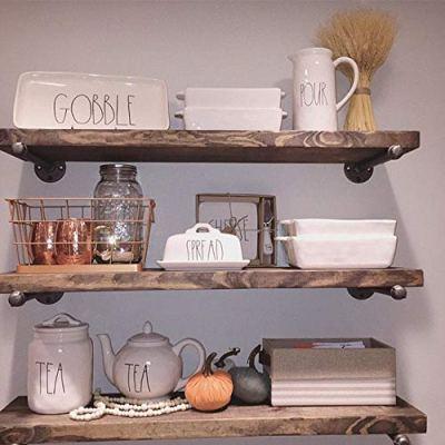 Industrial Floating Shelves Wall Shelf - Floating Shelves Wood Wall Mounted