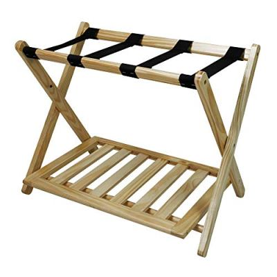 MISC Natural Hotel Luggage Rack for Guest Room Folding Suitcase Rack