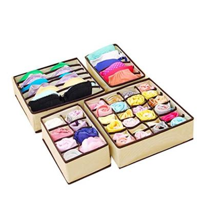Corgy 4PCS Underwear Organizer Storage Box Drawer Divider