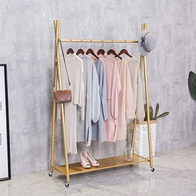 FURVOKIA Modern Simple Heavy Duty Metal Rolling Garment Rack