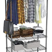 VIPEK 4 Tiers Wire Garment Rack Heavy Duty Clothes Rack Portable Clothes