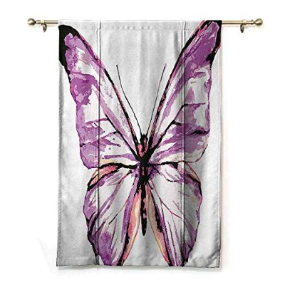 Lcxzjgk Indoor Roman Curtain Animal Privacy Protection Artistic Butterfly Design