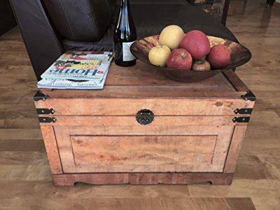 Styled Shopping Newport Medium Wood Storage Trunk Wooden Treasure Chest