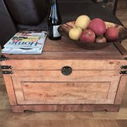Styled Shopping Newport Medium Wood Storage Trunk Wooden Treasure Chest