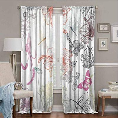 SONGDAYONE All Season Insulation Country Decor Privacy Protection Floral