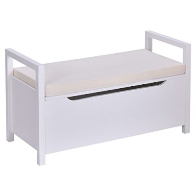 Giantex Storage Bench Shoes Rack W/Removable Seat Cushion Entryway Shoe