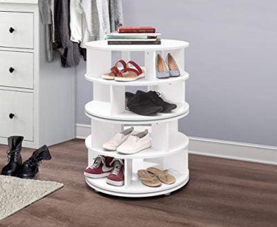 Kings Brand Furniture - 4-Tier Revolving Lazy Susan Shoe Rack Storage Organizer
