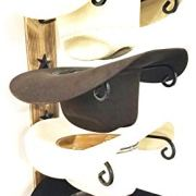 Mark Christopher Collection American Made Cowboy Hat Holder Charred Wood
