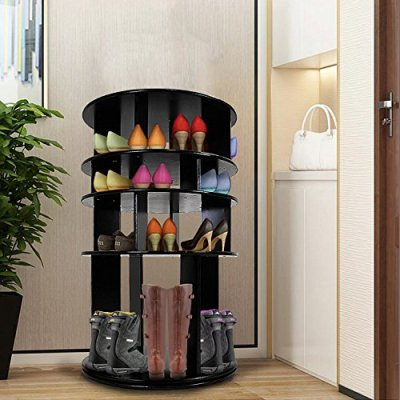 DL furniture - 4 Tier Rotated Shoe Rack Organizing Rack Entryway Storage Shelf
