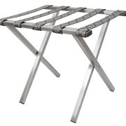 Wholesale Hotel Products Brushed Stainless Steel Luggage Rack
