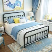 URODECOR Queen Platform Metal Bed Frame with Headboard and Footboard