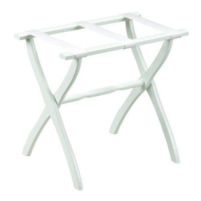 Gate House Furniture Item White Contoured Leg Luggage Rack