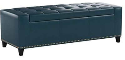 Christopher Knight Home Living Robin Studded Teal Leather Storage