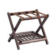 DJSMxlj Luggage Rack,Hotel Luggage Rack Carrier H Solid Wood Folding Case