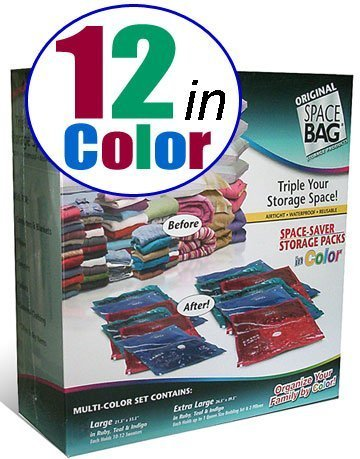 Space Bag 12 Storage Combo Packs in Color