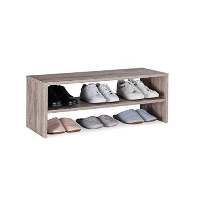 Sunon Shoe Rack 2 Tier Wood Shoe Organizer Free Standing Shoe Storage