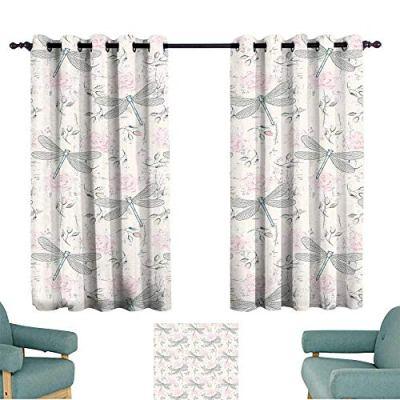 Warm Family Dragonfly Insulated Sunshade Curtain Shabby Chic Roses