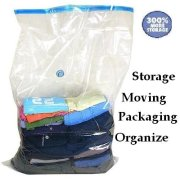 50 PACK Huge Vacuum Seal Moving Storage Bag Space Saver Jumbo