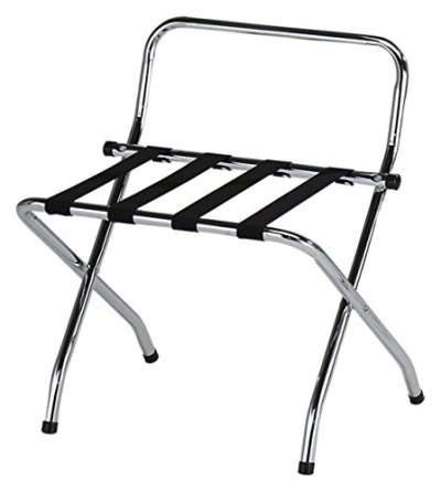 Kings Brand Furniture - Chrome / Black Metal Foldable High Back