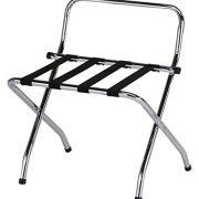 Kings Brand Furniture - Chrome / Black Metal Foldable High Back
