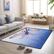 Dragonfly Large Area Rug 5'x8' Provides Protection and Cushion