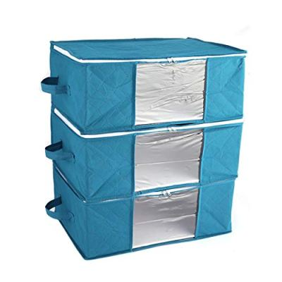 Fanala Home Foldable Zipper Storage Bags Clothes Bedding Pillows