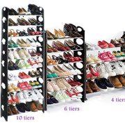 Oguine 10 Tier Shoe Portable Free Standing Shoe Rack Organizer